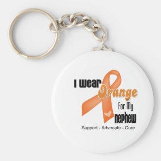 I Wear an Orange Ribbon For My Nephew Basic Round Button Keychain
