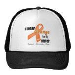 I Wear an Orange Ribbon For My Sister Hat