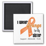 I Wear an Orange Ribbon For My Sister Fridge Magnets