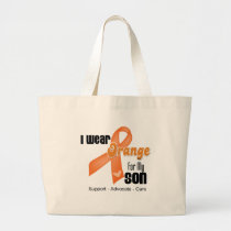 I Wear an Orange Ribbon For My Son Large Tote Bag
