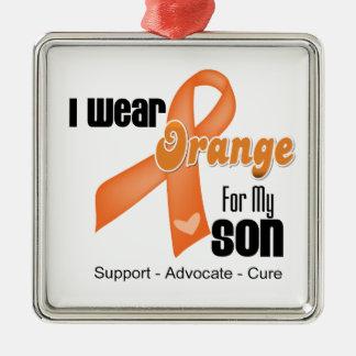 I Wear an Orange Ribbon For My Son Christmas Ornaments
