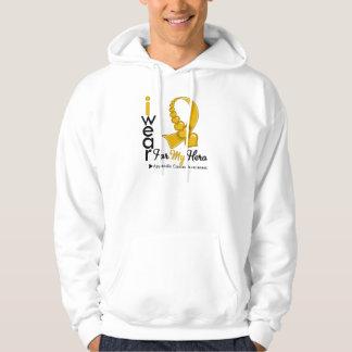 I Wear APPENDIX CANCER Ribbon For My Hero Hooded Sweatshirt