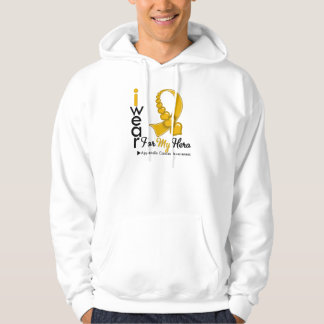 I Wear APPENDIX CANCER Ribbon For My Hero Hoodie