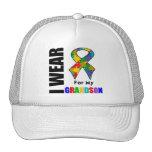 I Wear Autism Ribbon For My Grandson Trucker Hat