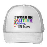 I Wear Autism Ribbon For My Son Trucker Hat