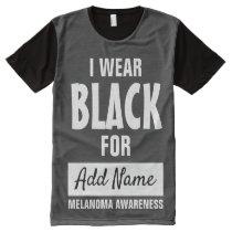 I wear black for Melanoma awareness All-Over-Print T-Shirt