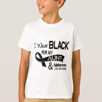 I Wear Black For My Aunt 42 Melanoma T-Shirt