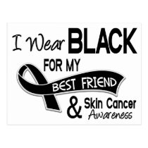 I Wear Black For My Best Friend 42 Skin Cancer Postcard