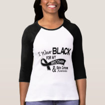 I Wear Black For My Brother 42 Skin Cancer T-Shirt
