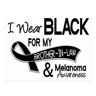 I Wear Black For My Brother-In-Law 42 Melanoma Postcard
