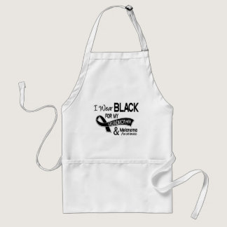 I Wear Black For My Grandmother 42 Melanoma Adult Apron