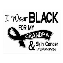 I Wear Black For My Grandpa 42 Skin Cancer Postcard