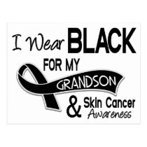 I Wear Black For My Grandson 42 Skin Cancer Postcard