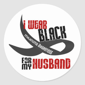 I Wear Black For My Husband 33 Classic Round Sticker