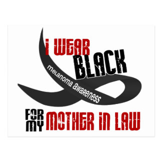 I Wear Black For My Mother-In-Law 33 Postcard
