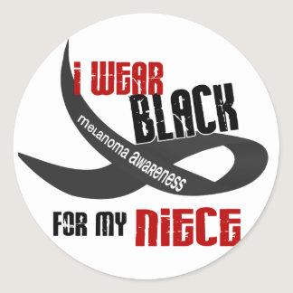 I Wear Black For My Niece 33 Classic Round Sticker