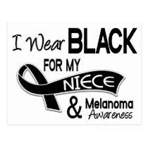 I Wear Black For My Niece 42 Melanoma Postcard