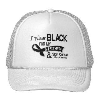 I Wear Black For My Sister 42 Skin Cancer Trucker Hats