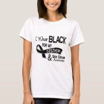 I Wear Black For My Sister 42 Skin Cancer T-Shirt