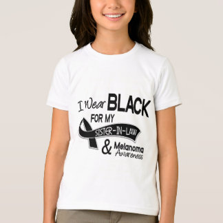I Wear Black For My Sister-In-Law 42 Melanoma T-Shirt