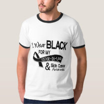 I Wear Black For My Sister-In-Law 42 Skin Cancer T-Shirt