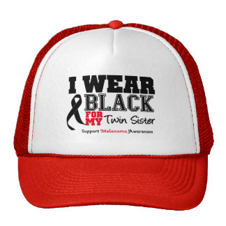 I Wear Black For My Twin Sister Hats