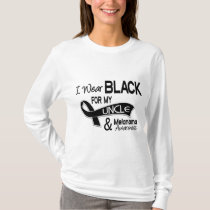 I Wear Black For My Uncle 42 Melanoma T-Shirt