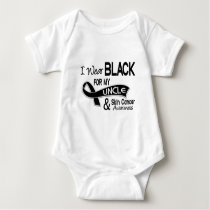 I Wear Black For My Uncle 42 Skin Cancer Baby Bodysuit