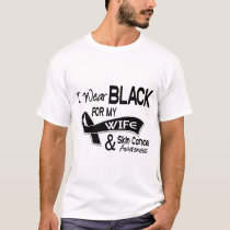 I Wear Black For My Wife 42 Skin Cancer T-Shirt