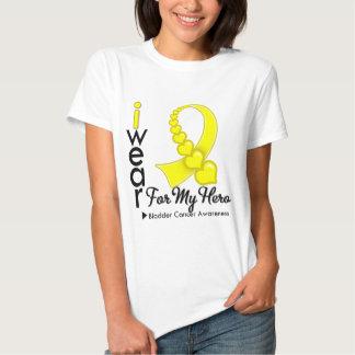 I Wear Bladder Cancer Ribbon For My Hero T-Shirt