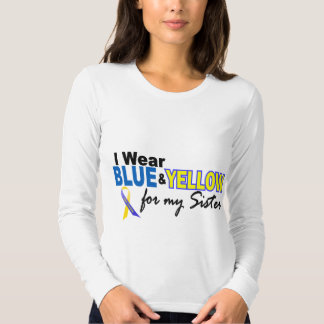 I Wear Blue and Yellow For My Sister Down Syndrome Tee Shirt