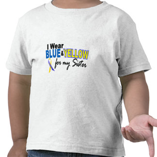 I Wear Blue and Yellow For My Sister Down Syndrome T Shirts