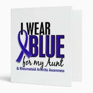 I Wear Blue Aunt Rheumatoid Arthritis RA 3 Ring Binders