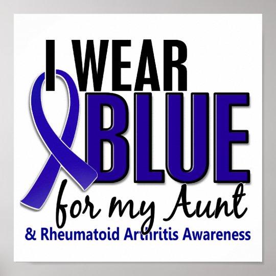 I Wear Blue Aunt Rheumatoid Arthritis RA Poster