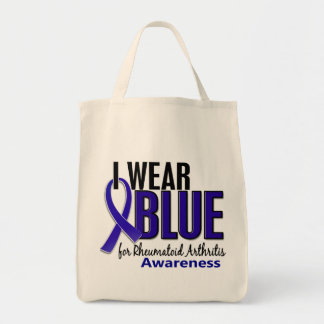 I Wear Blue Awareness 10 Rheumatoid Arthritis RA Tote Bag