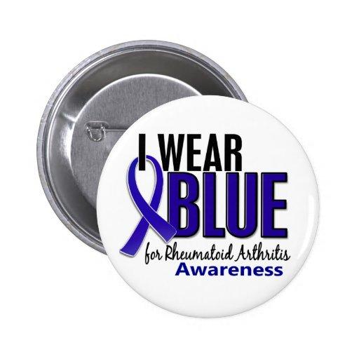 I Wear Blue Awareness 10 Rheumatoid Arthritis RA Pins