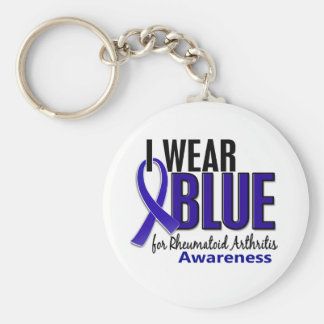 I Wear Blue Awareness 10 Rheumatoid Arthritis RA Basic Round Button Keychain