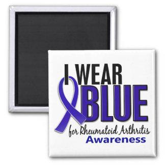 I Wear Blue Awareness 10 Rheumatoid Arthritis RA 2 Inch Square Magnet