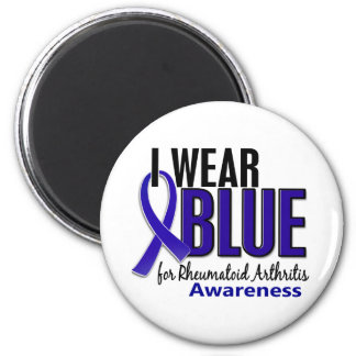 I Wear Blue Awareness 10 Rheumatoid Arthritis RA 2 Inch Round Magnet
