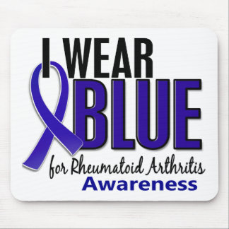I Wear Blue Awareness 10 Rheumatoid Arthritis RA Mouse Pad