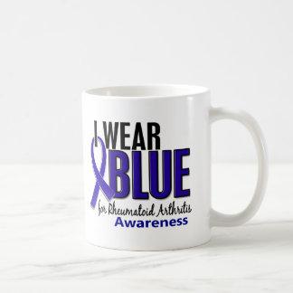 I Wear Blue Awareness 10 Rheumatoid Arthritis RA Classic White Coffee Mug