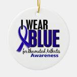 I Wear Blue Awareness 10 Rheumatoid Arthritis RA Ornament