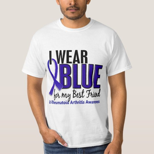 I Wear Blue Best Friend 10 Rheumatoid Arthritis RA T-Shirt