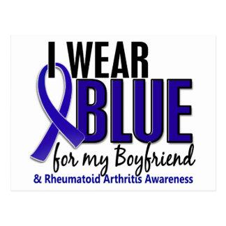 I Wear Blue Boyfriend 10 Rheumatoid Arthritis RA Postcard