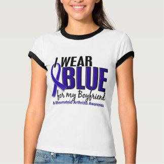 I Wear Blue Boyfriend 10 Rheumatoid Arthritis RA T-Shirt