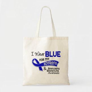 I Wear Blue Boyfriend 42 Ankylosing Spondylitis AS Canvas Bags