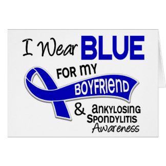 I Wear Blue Boyfriend 42 Ankylosing Spondylitis AS Greeting Cards