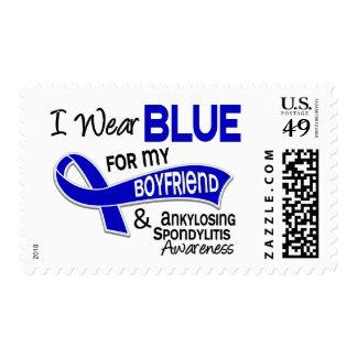I Wear Blue Boyfriend 42 Ankylosing Spondylitis AS Postage Stamp