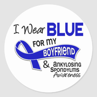 I Wear Blue Boyfriend 42 Ankylosing Spondylitis AS Sticker