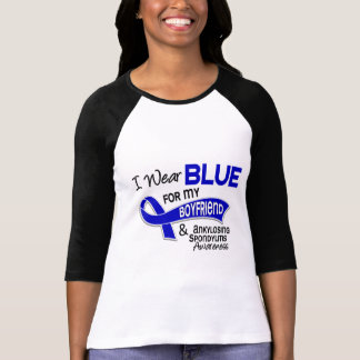 I Wear Blue Boyfriend 42 Ankylosing Spondylitis AS T Shirt
